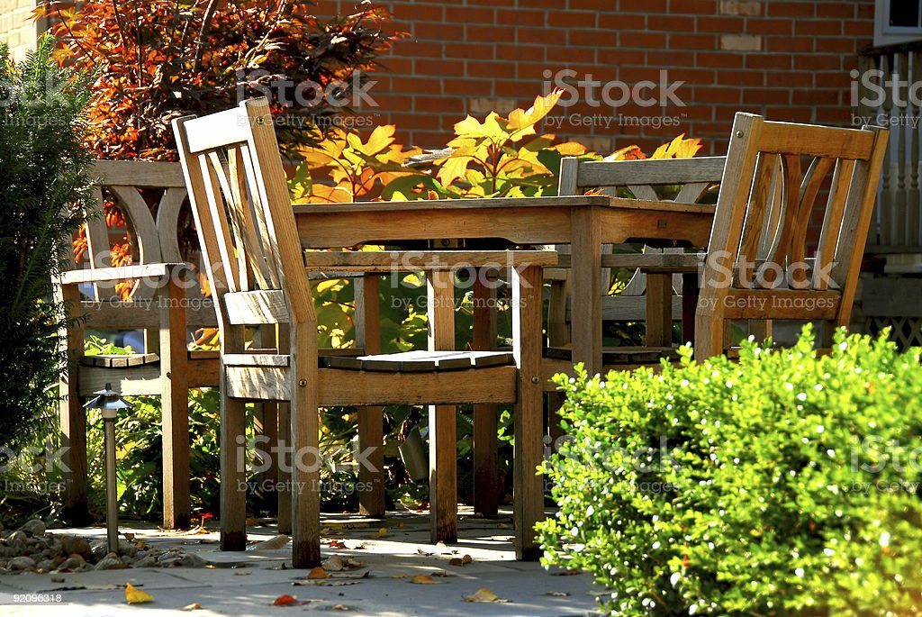 Patio royalty-free stock photo