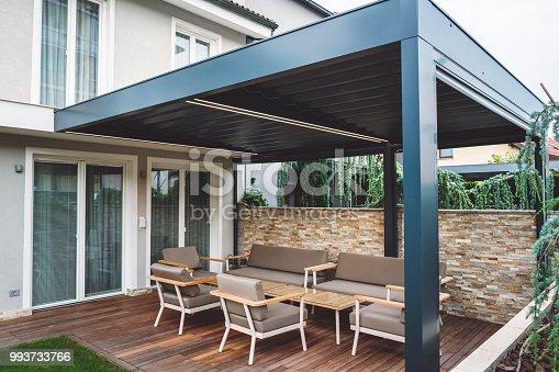 Beautiful modern patio and pergola