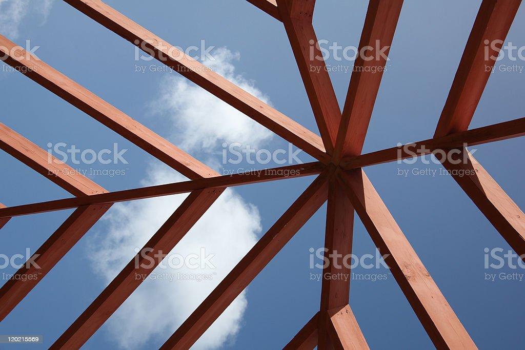 Patio skyline. stock photo