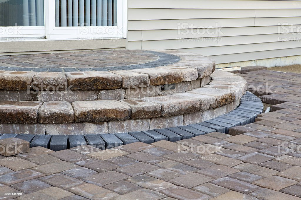 Patio Steps Side View Stock Photo Download Image Now Istock