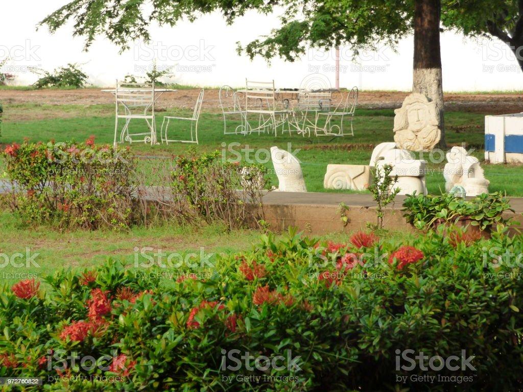Patio-Jardin-Estar stock photo