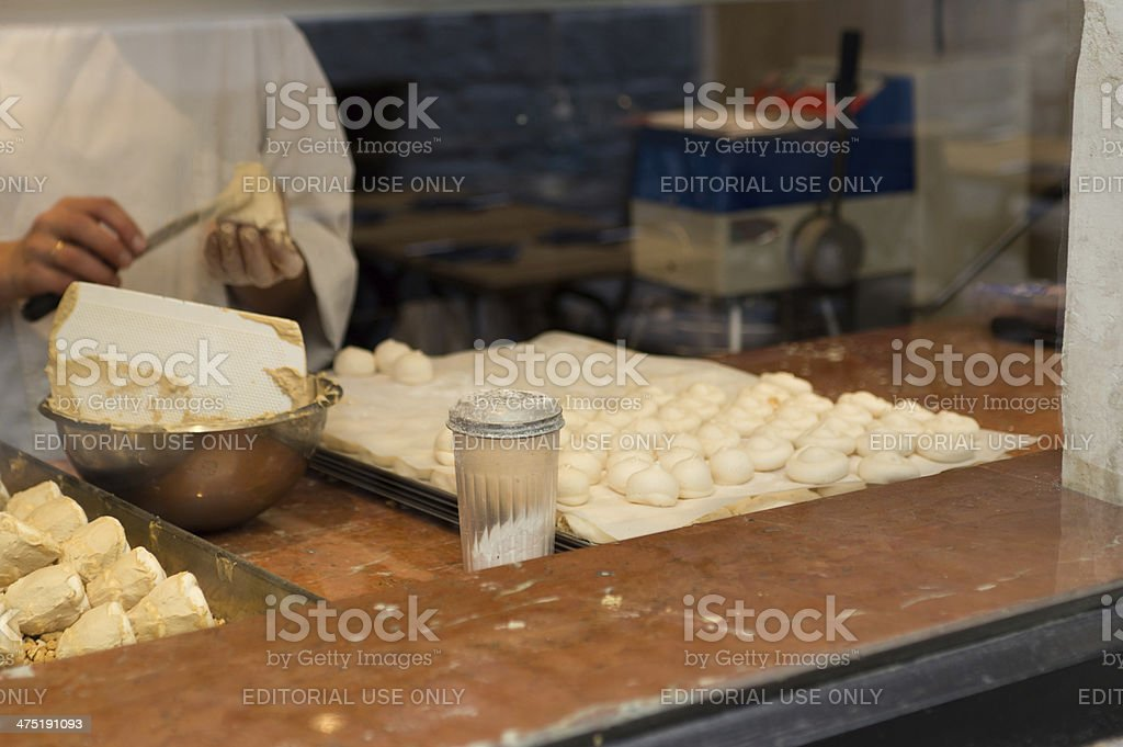 Patisserie at work royalty-free stock photo