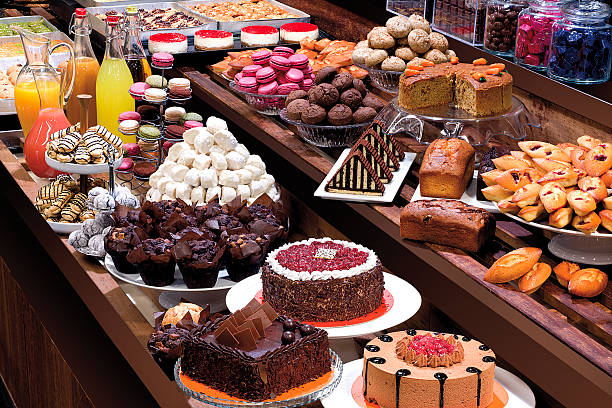 Patisserie Showcase - fotografia de stock