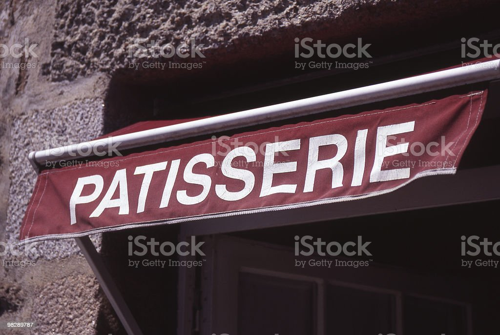 Patisserie Sign. France royalty-free stock photo