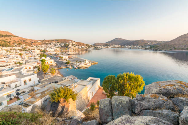 Patmos Island, Greece stock photo