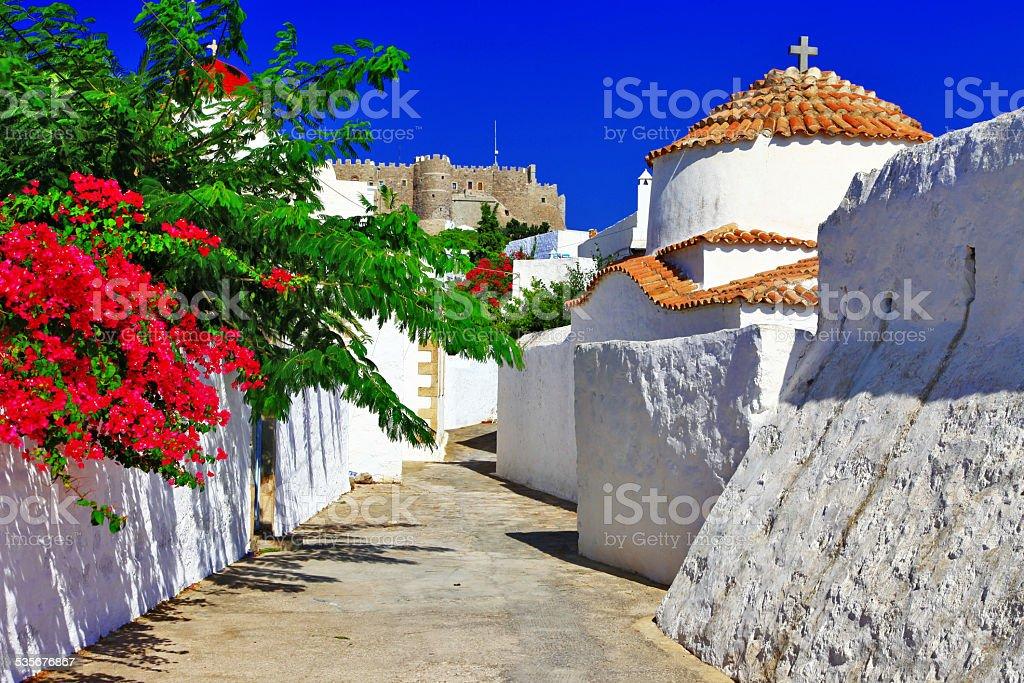 Patmos Island,Greece. stock photo