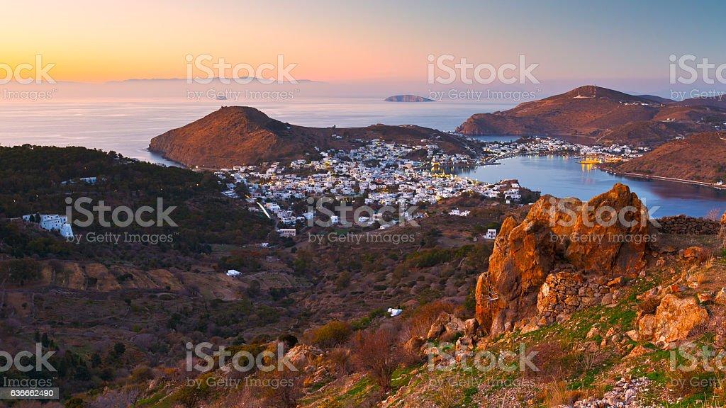 Patmos. stock photo