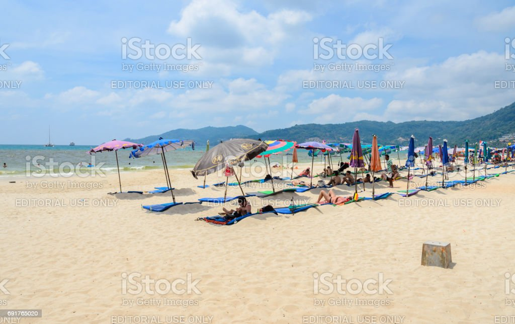 Patong beach in Phuket province, Thailand stock photo