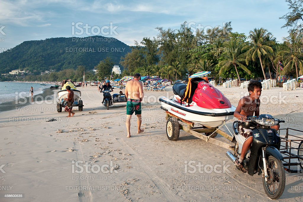 Patong Beach Jet Skis royalty-free stock photo