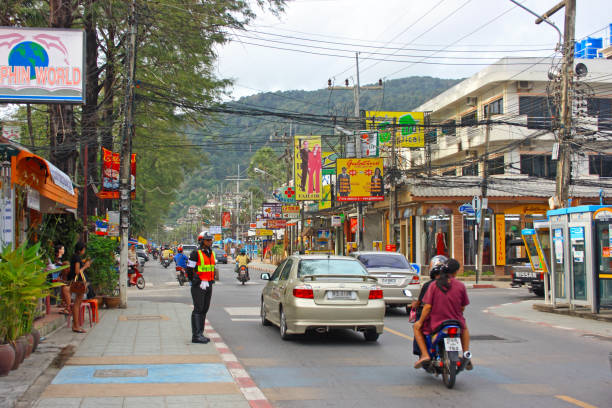 Patong in Phuket stock photo