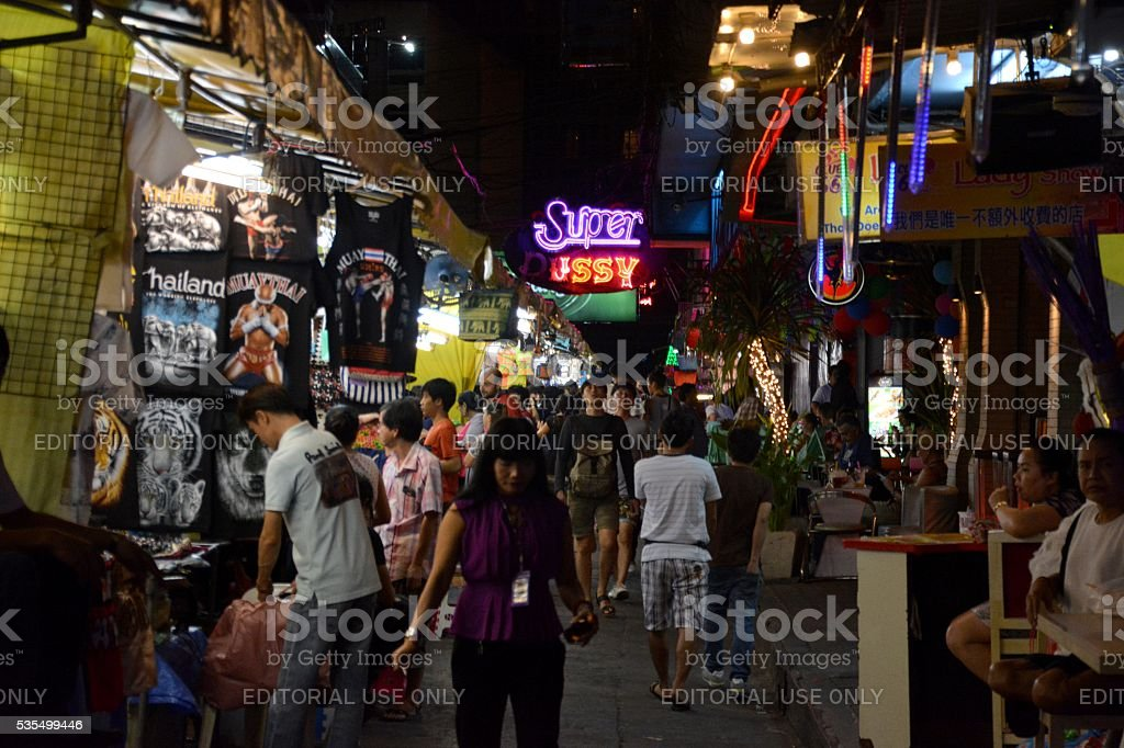 Patpong night market in Bangkok, Thailand stock photo