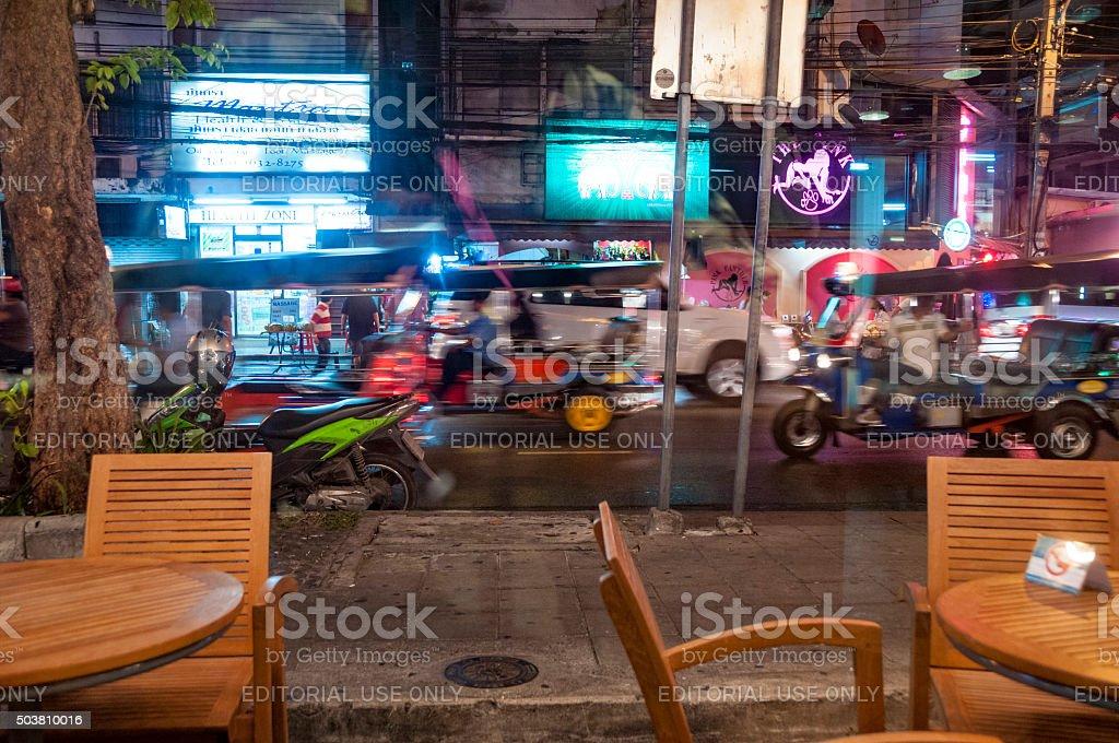 Patpong Nightlife Area In Bangkok, Thailand stock photo