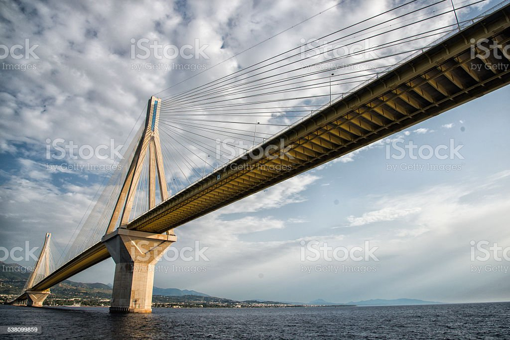 Patras Bridge stock photo