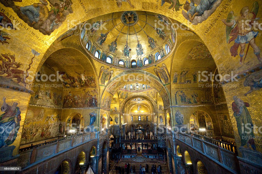 Patriarchal Cathedral Basilica of Saint Mark2 (Venice, Italy) stock photo