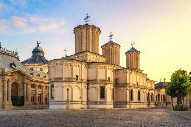 Patriarchal cathedral of Bucharest stock photo