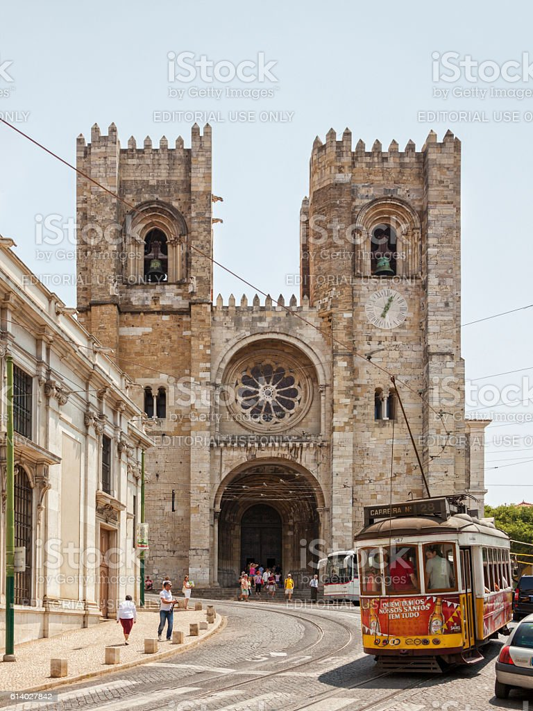 Patriarchal Cathedral of St. Mary Major, Lisbon stock photo