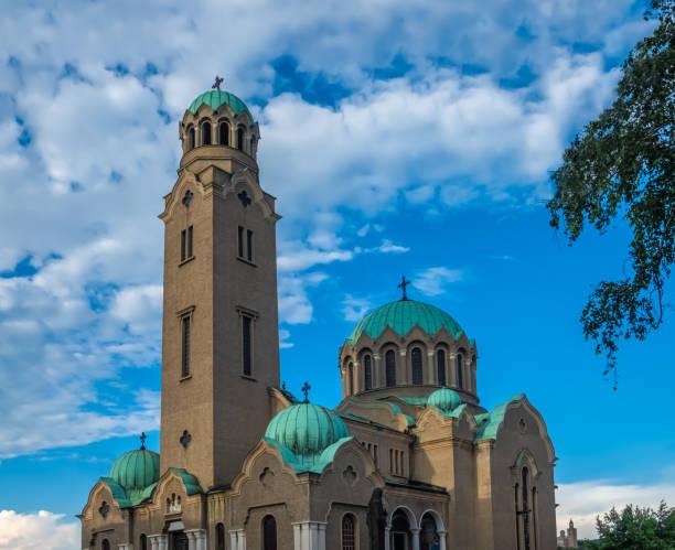Patriarchalische Kathedrale der Heiligen Himmelfahrt Gottes, Veliko Tarnovo, Stadt der Zaren, am Yantra Fluss, Bulgarien. Es war die Hauptstadt des Zweiten Bulgarischen Königreichs – Foto