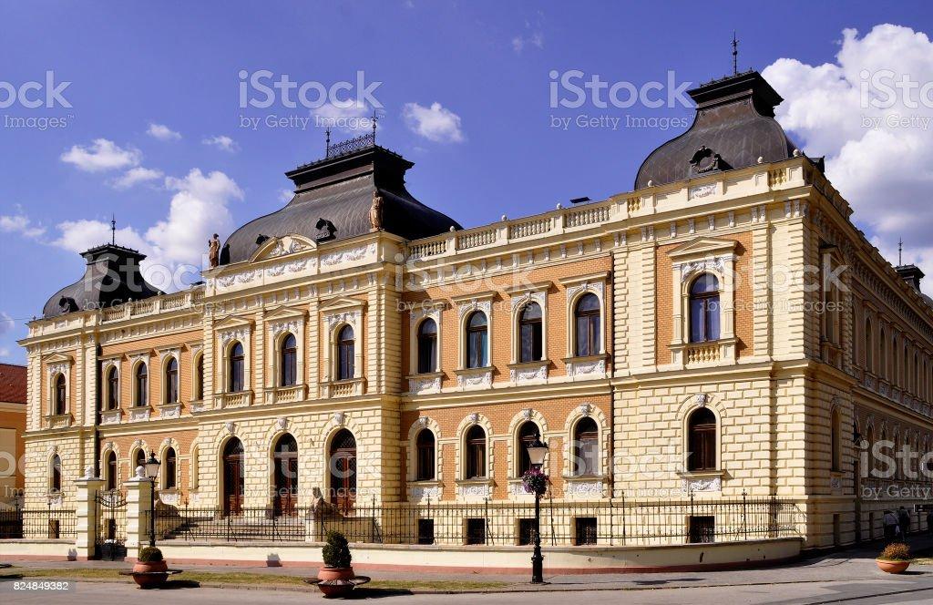 Patriarchy Court in the city Sremski Karlovci  near Novi Sad in Vojvodina-Serbia stock photo