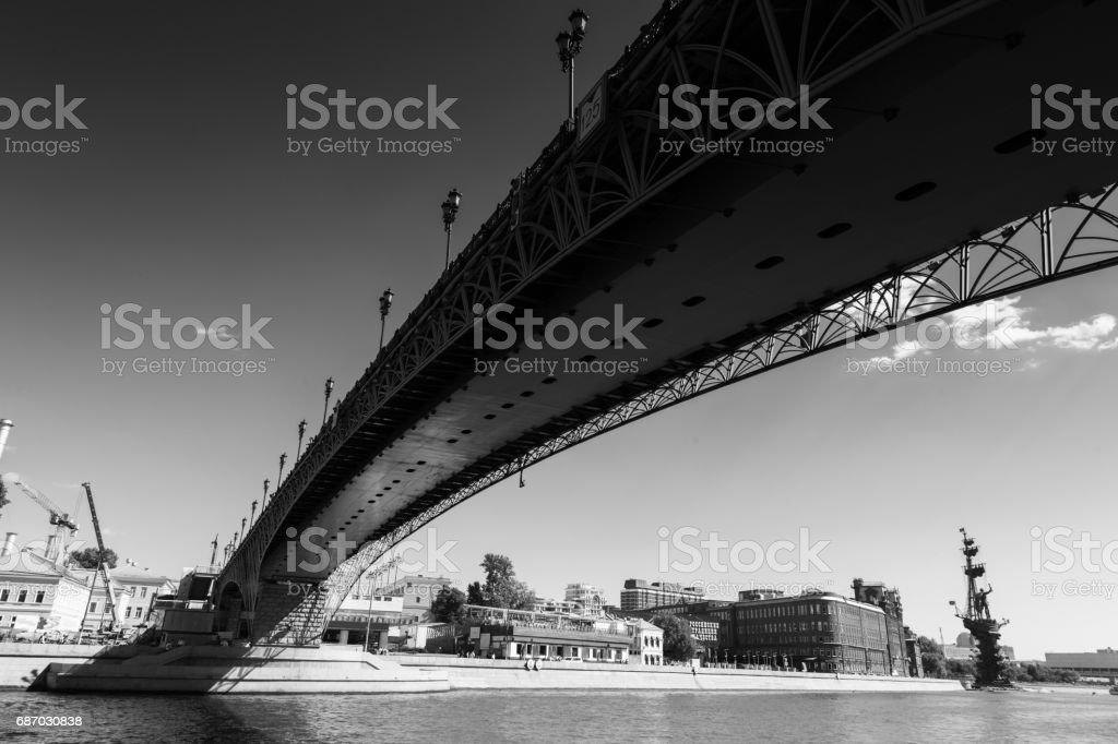 Patriarshy Bridge, Moscow, Russia stock photo