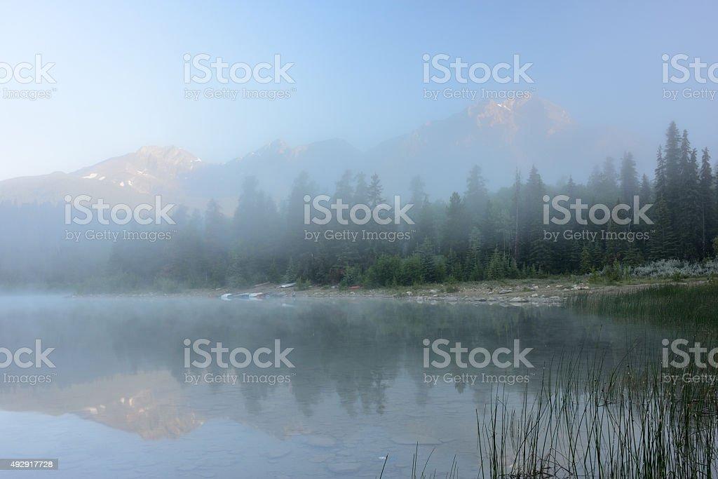 Patricia Lake at Sunrise stock photo