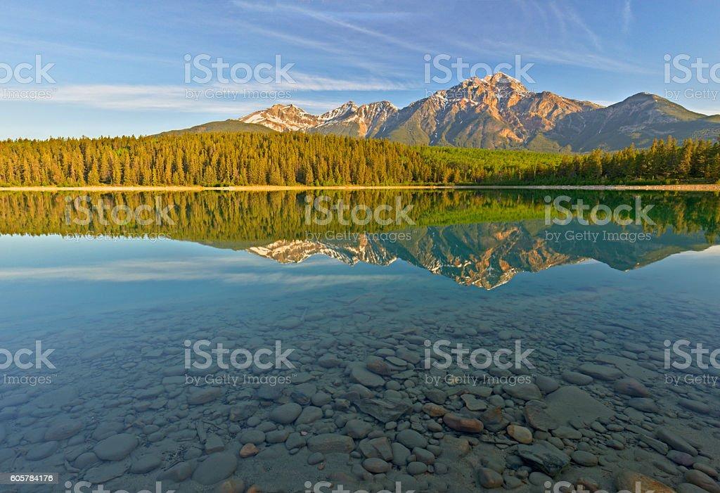 Patricia Lake, Jasper National Park, Canada stock photo