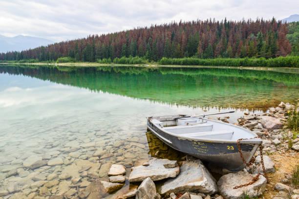 Patricia Lake, Jasper National Park stock photo