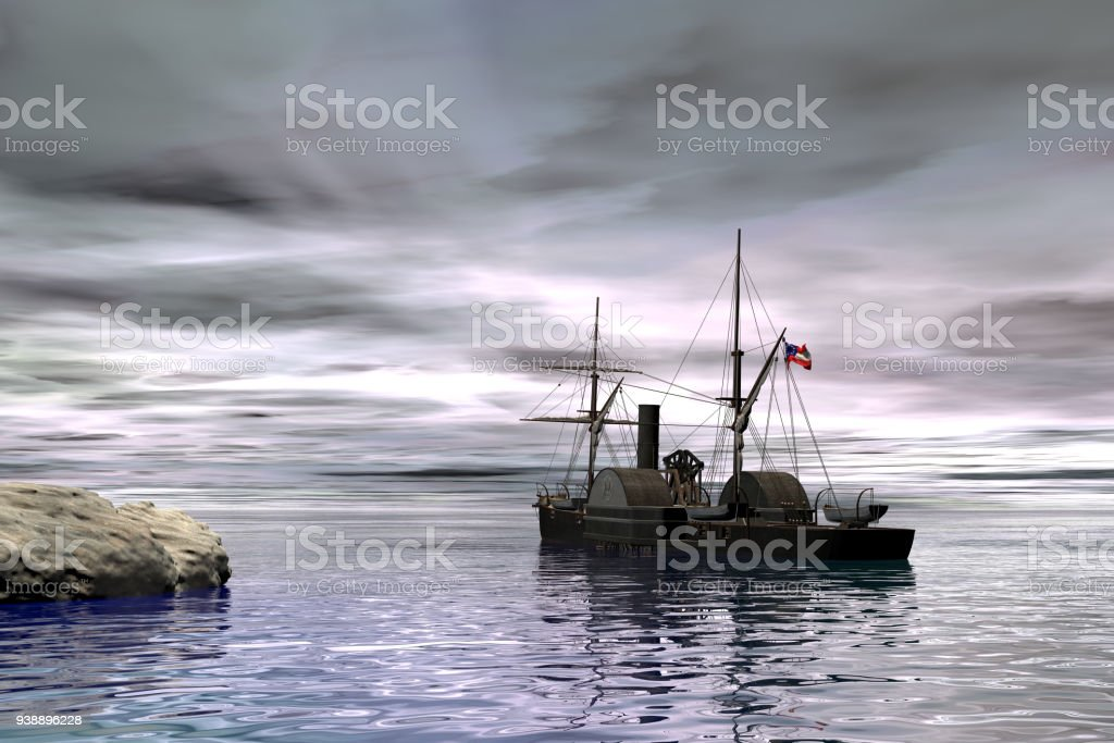 SS Patrick Henry was the first Liberty ship launched, 3d rendering stock photo