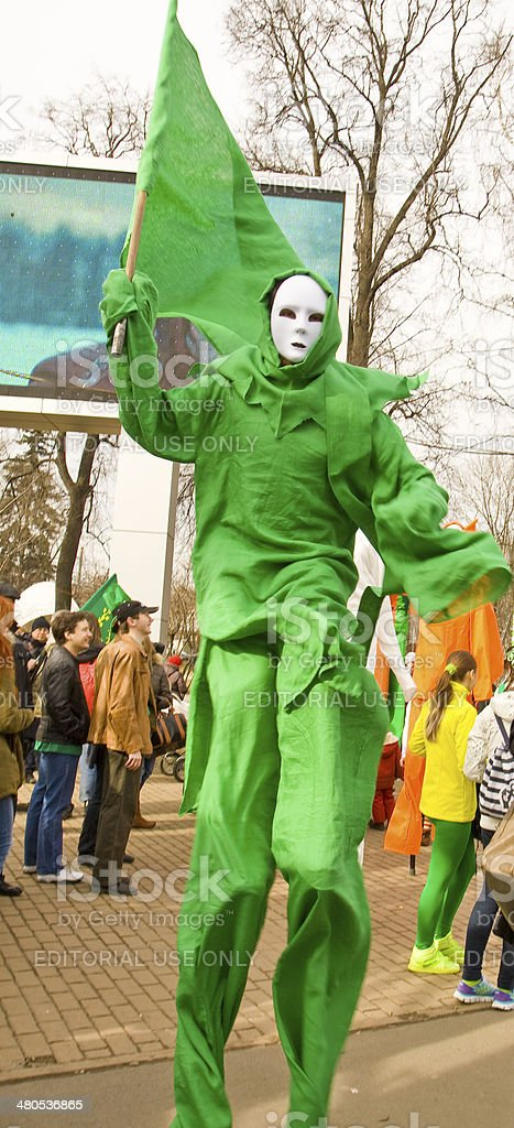 S. Patrick's day in Moscow royalty-free stock photo
