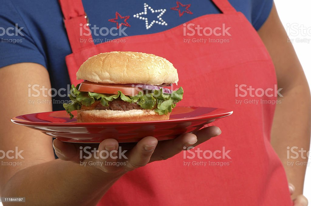 Patriot Burger royalty-free stock photo