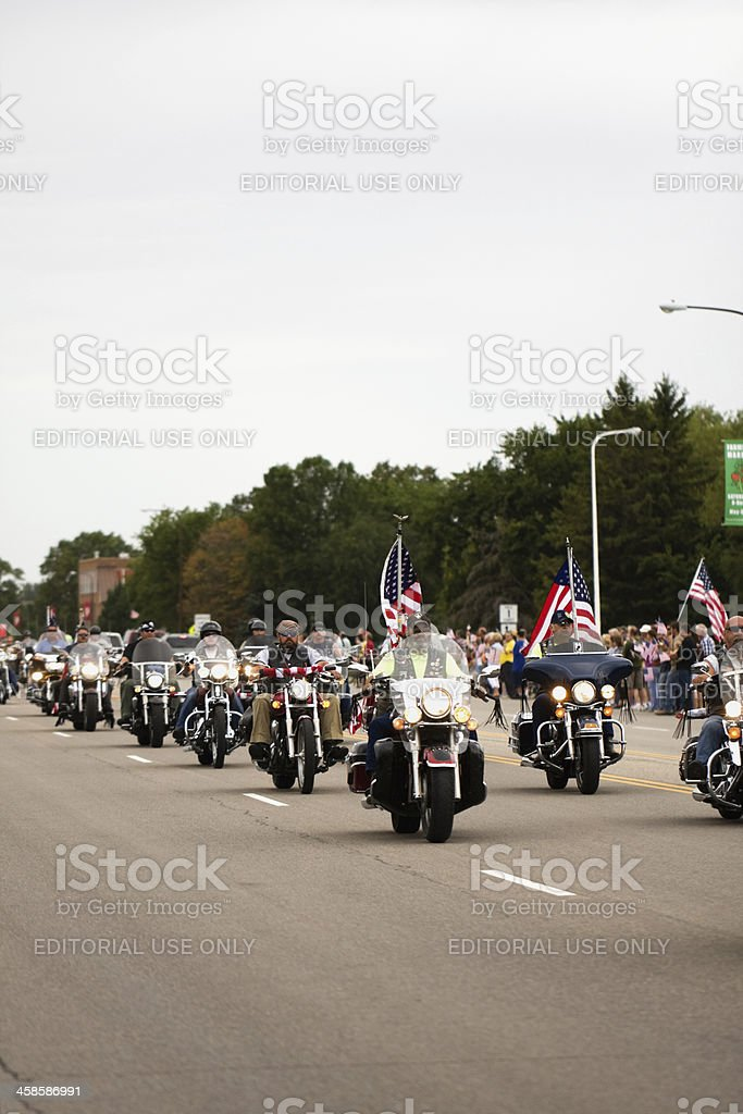 Patriot Guard Riders - Vertical stock photo
