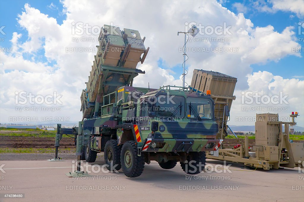 Patriot Guided Missile System at exhibition stock photo