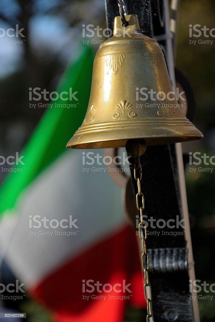 patriot italian bell stock photo