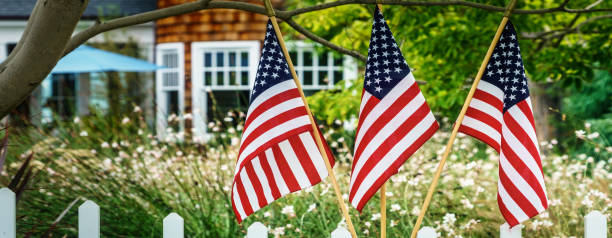 Patriotic 18 (Banner) stock photo