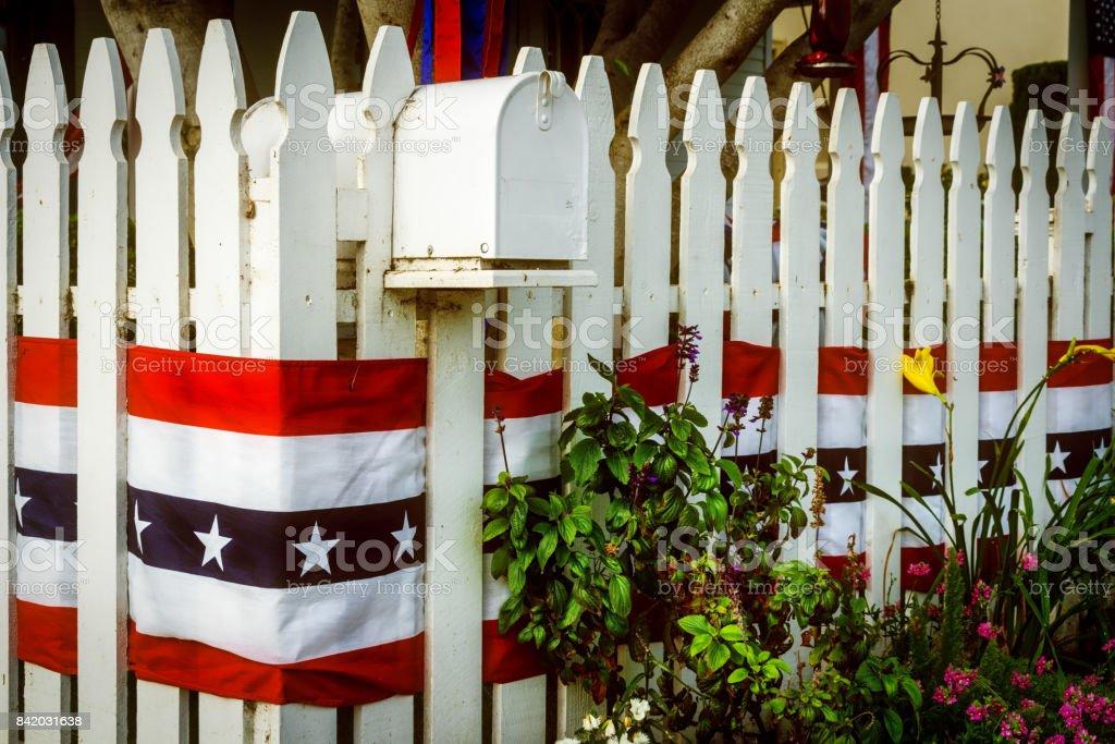 Patriotic 19 stock photo