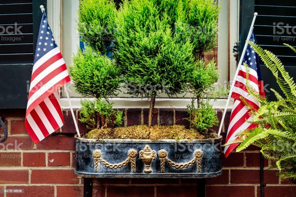 Patriotic 20 stock photo