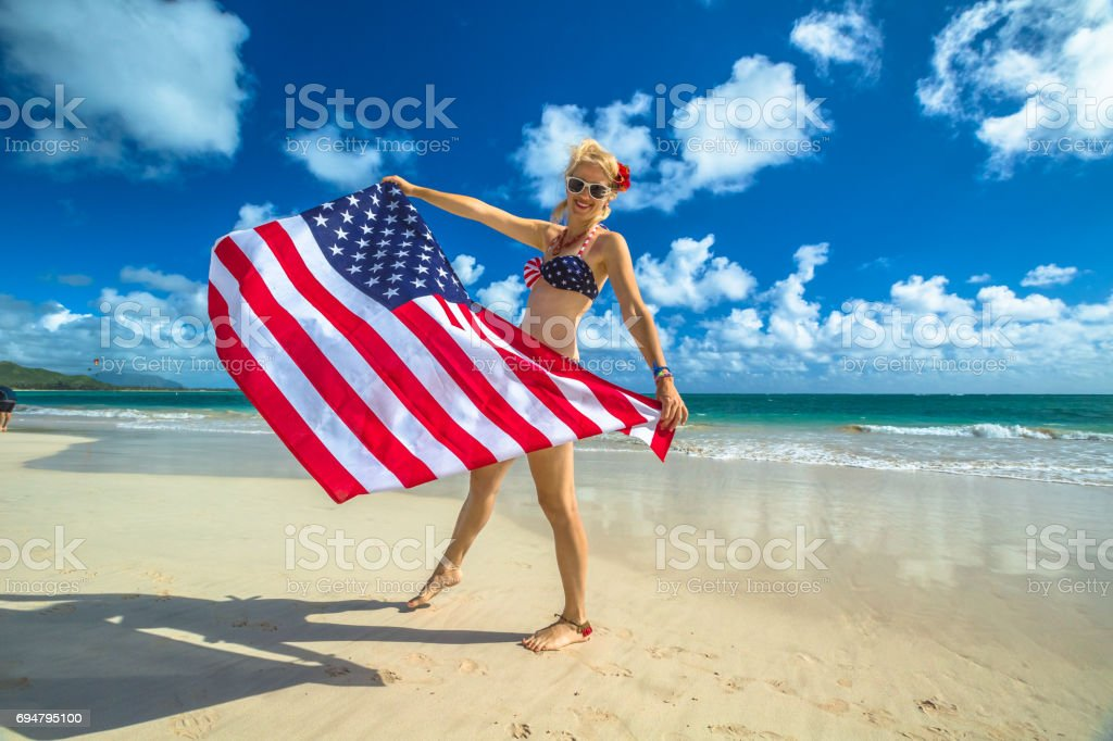 Patriotic american concept stock photo