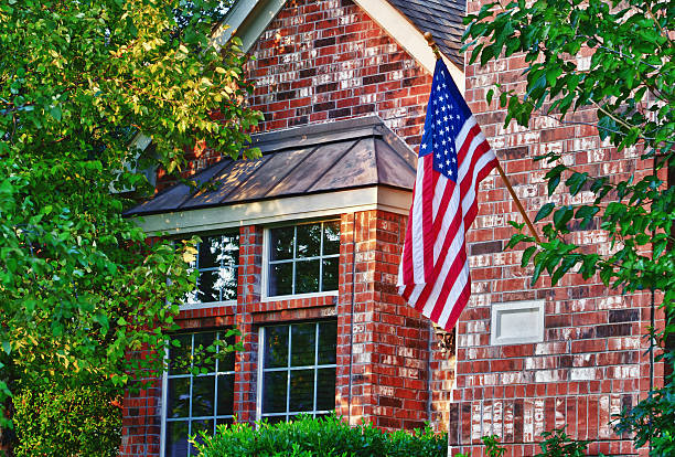 Patriotic American flag stock photo
