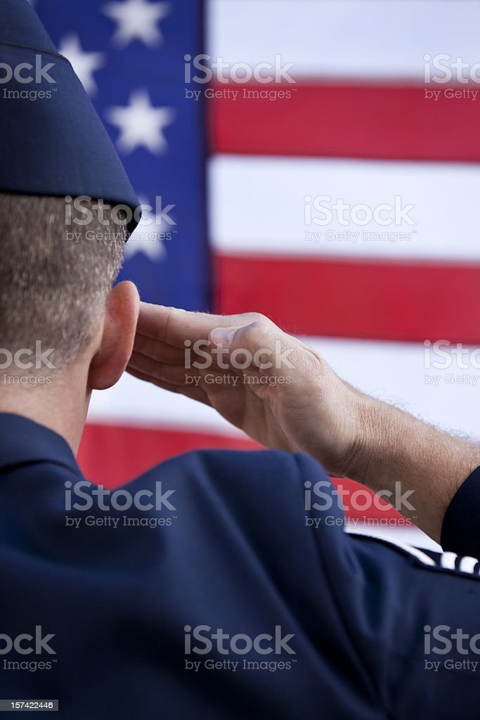 Patriotic American MIlitary Soldier royalty-free stock photo