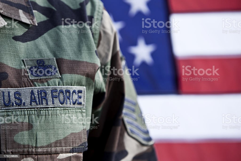 Patriotic American Soldier US soldier - one in a series. Air Force Stock Photo