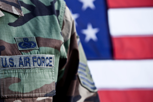 Patriotic American Soldier Stock Photo - Download Image Now