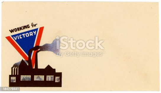 istock Patriotic Americana World War II Envelope Working for Victory 184279441