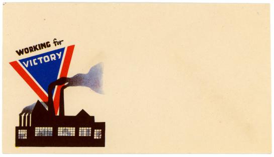 An American patriotic envelope from World War II.