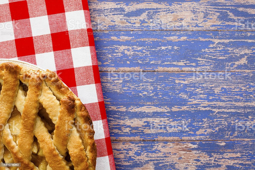 Patriotic Apple Pie stock photo