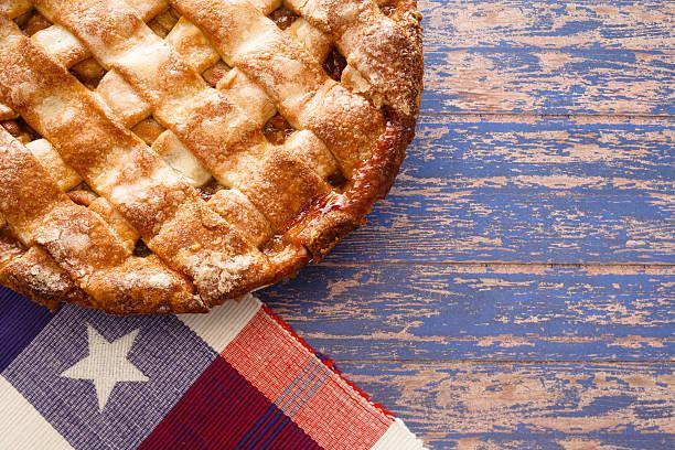 Patriotic Apple Pie stock photo