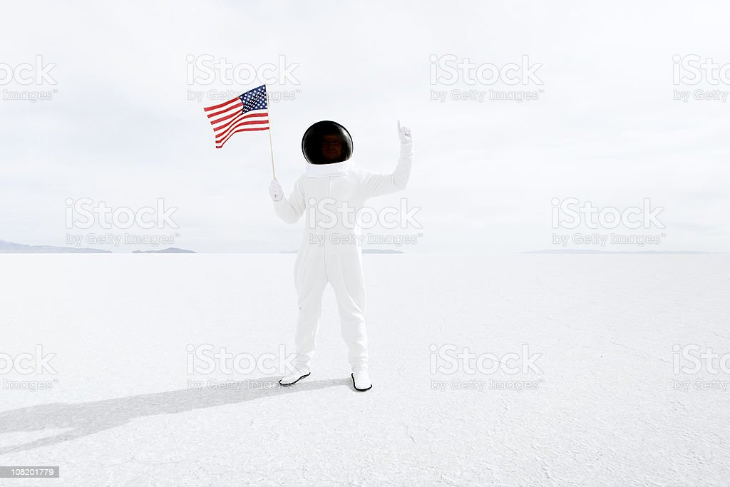 Patriotic Astronaut stock photo