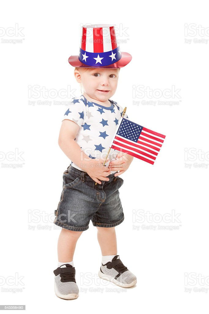 Patriotic Baby Boy stock photo