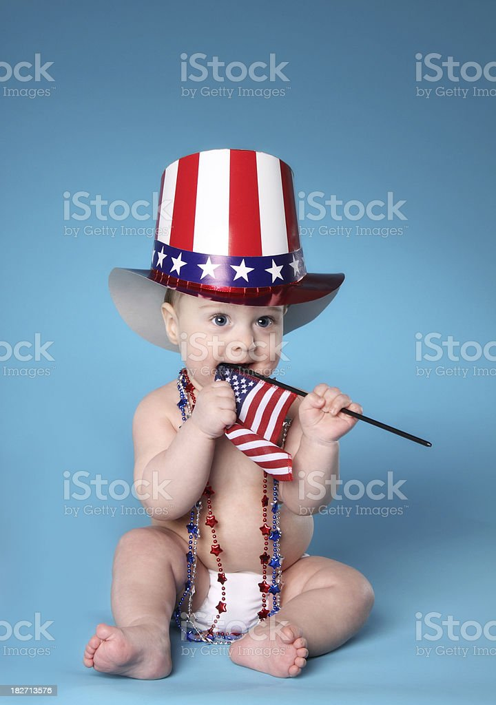 Patriotic Baby stock photo