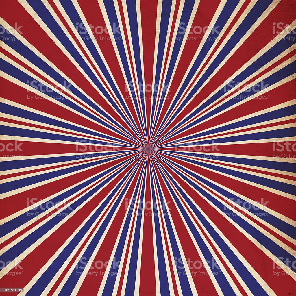 Patriotic Background Sunburst Paper - XXXL stock photo