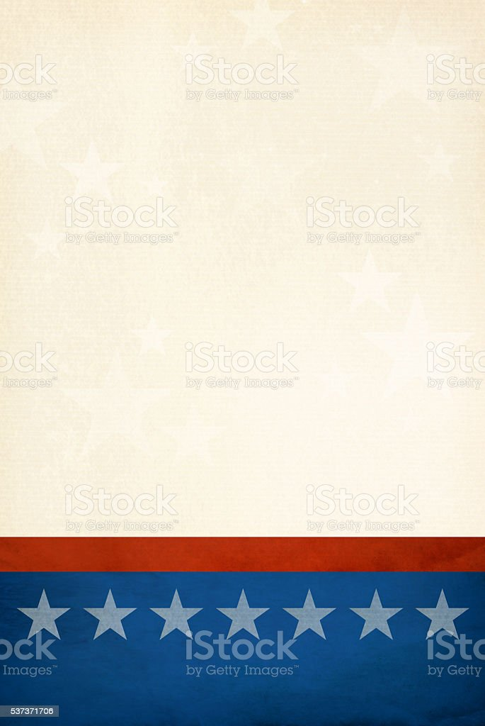 Patriotic background with room for copy space. stock photo