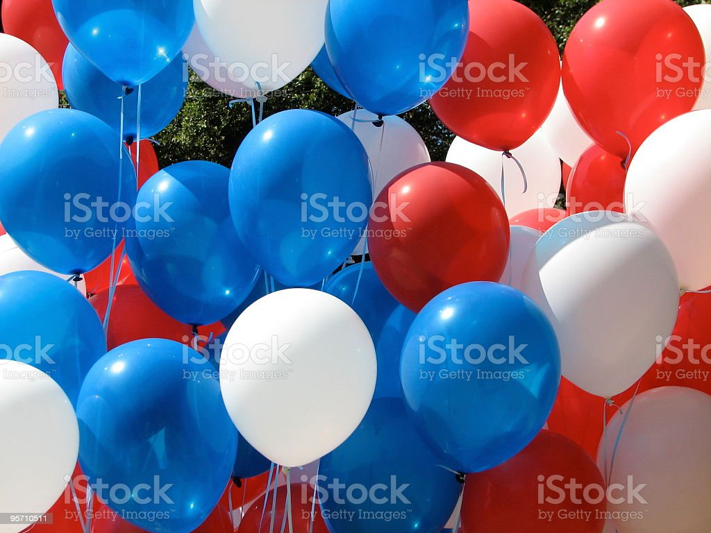 Patriotic Balloons royalty-free stock photo